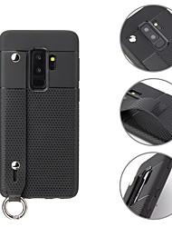 Недорогие -Кейс для Назначение SSamsung Galaxy S9 / S9 Plus Кольца-держатели / Ультратонкий Кейс на заднюю панель Однотонный Мягкий ТПУ
