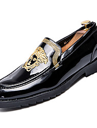 bd54e1ff Hombre Zapatos Confort PU Otoño Casual Zapatos de taco bajo y Slip-On  Antideslizante Dorado / Negro