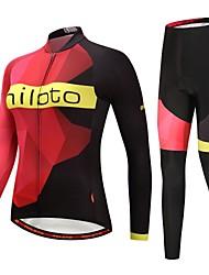billiga Sport och friluftsliv-Miloto Cykeltröja och tights / Cykeljacka och byxa - Svart / röd Cykel Håller värmen