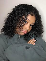 voordelige -Mensen Remy Haar Kanten Voorkant Pruik Bobkapsel stijl Braziliaans haar Recht Losse krul Pruik 150% Haardichtheid met babyhaar Natuurlijke haarlijn Afro-Amerikaanse pruik onverwerkte Gebleekte knopen