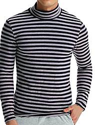 baratos -Homens Camiseta Básico Listrado / Estampa Colorida