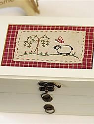 Недорогие -Место хранения организация Ювелирная коллекция деревянный Прямоугольная форма Открытая крышка