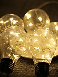 Недорогие -2,5м Гирлянды 50 светодиоды Белый Декоративная / обожаемый Работает от USB 1 комплект