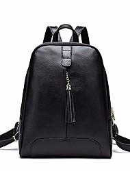 Недорогие -Жен. Мешки Кожа рюкзак Однотонные Лиловый / Винный / Тёмно-синий