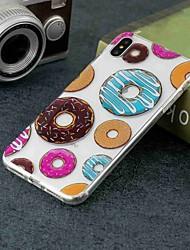 Недорогие -Кейс для Назначение Apple iPhone XR / iPhone XS Max Прозрачный / С узором Кейс на заднюю панель Продукты питания Мягкий ТПУ для iPhone XS / iPhone XR / iPhone XS Max
