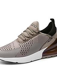 baratos -Homens Sapatos Confortáveis Pele Inverno Casual Tênis Não escorregar Preto / Branco / Preto / Khaki