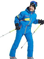 Недорогие -Wild Snow Муж. Лыжная куртка и брюки Водонепроницаемость С защитой от ветра Теплый Катание на лыжах Зимние виды спорта Полиэфир Наборы одежды Одежда для катания на лыжах / Зима