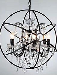 Недорогие -6-Light Шары Рассеянное освещение Окрашенные отделки Металл Хрусталь 110-120Вольт / 220-240Вольт Лампочки включены / E12 / E14