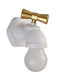 billige Originale lamper-1pc kreativ bevegelsessensor kranen vegg natt lys usb oppladbart hjem bedside krans stemme kontroll fôring barn lampe dekorasjon