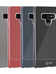 Недорогие -Lenuo Кейс для Назначение SSamsung Galaxy Note 9 Защита от удара / Ультратонкий Кейс на заднюю панель Полосы / волосы Мягкий ТПУ для Note 9