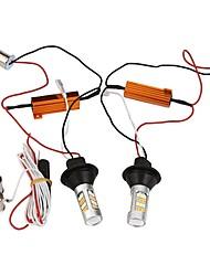 Недорогие -Светодиодная лампа с подсветкой 2pcs 1156 bau15s 42leds double color white&желтый дневной пробег легкий автомобиль drl указатель поворота dc12v