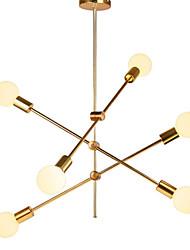 Недорогие -6-Light Спутник Люстры и лампы Рассеянное освещение Электропокрытие Металл Регулируется 110-120Вольт / 220-240Вольт