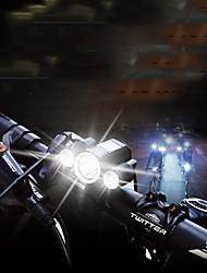Недорогие -Светодиодная лампа Велосипедные фары Передняя фара для велосипеда Горные велосипеды Велоспорт Водонепроницаемый Портативные Регулируется нет батареи 400 lm Аккумуляторы Белый