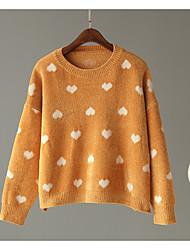 billige -Dame langærmet pullover - solidfarvet