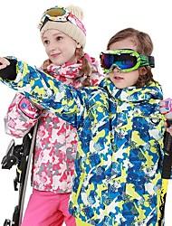 Недорогие -Мальчики Девочки Лыжный костюм Водонепроницаемость Сохраняет тепло С защитой от ветра Катание на лыжах Сноубординг Polyster Наборы одежды Одежда для катания на лыжах / Зима