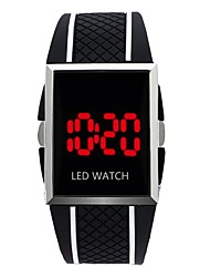 Недорогие -Муж. Наручные часы Цифровой Pезина Черный / Белый / Красный Календарь Секундомер Новый дизайн Цифровой Блестящие Кольцеобразный - Синия / Черный Красный Черный / Белый Один год Срок службы батареи