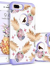 Недорогие -BENTOBEN Кейс для Назначение Apple iPhone 8 Plus / iPhone 7 Plus Защита от удара / С узором Кейс на заднюю панель Фрукты Твердый ПК / силикагель для iPhone 8 Pluss / iPhone 7 Plus