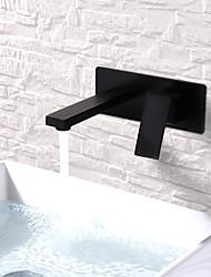 Недорогие -Ванная раковина кран - Широко распространенный / Новый дизайн Окрашенные отделки На стену Одной ручкой Два отверстияBath Taps