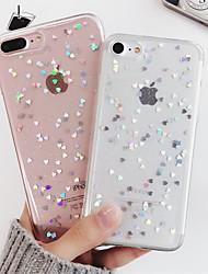 Недорогие -Кейс для Назначение Apple iPhone X / iPhone XS Защита от удара / Полупрозрачный Кейс на заднюю панель С сердцем / Мультипликация Мягкий ТПУ для iPhone XS / iPhone X / iPhone 8 Pluss
