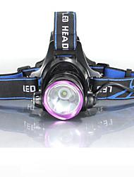 Недорогие -3Mode Налобные фонари Велосипедные фары Фары для велосипеда Светодиодная лампа Cree® XM-L2 1 излучатели 2000 lm 3 Режим освещения с батарейками и зарядными устройствами / Водонепроницаемый