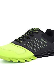 abordables -Homme Chaussures de confort Cuir Automne Décontracté Chaussures d'Athlétisme Course à Pied Preuve de l'usure Couleur Pleine Orange / Vert / Bleu