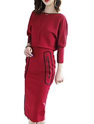 Недорогие -платье для женщин с высокой талией длиной до колена