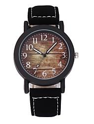 Недорогие -Муж. Наручные часы Кварцевый Творчество Новый дизайн Повседневные часы PU Группа Аналоговый На каждый день Мода Черный / Коричневый - Черный Коричневый Один год Срок службы батареи