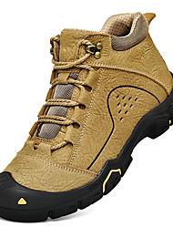 billige -Herre Fashion Boots Nappalæder Vinter Afslappet / Britisk Støvler Hold Varm Ankelstøvler Sort / Kaffe / Kakifarvet