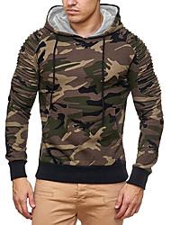 billige -Herre Basale Hattetrøje - camouflage, Flettet / Trykt mønster