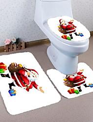 Недорогие -3 предмета Традиционный Коврики для ванны 100 г / м2 полиэфирный стреч-трикотаж Креатив Прямоугольная Ванная комната Легко очистить