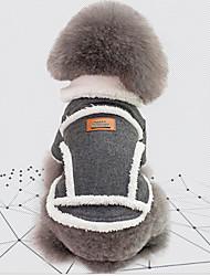 billige -Hunde Jakke Hundetøj Britisk / Vintage Grå / Kakifarvet Bomuld Kostume For kæledyr Unisex Hold Varm / Vindtæt