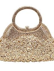 baratos -Mulheres Bolsas Liga Bolsa de Festa Detalhes em Cristal Côr Sólida Dourado