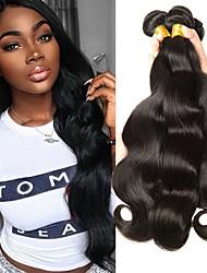 Недорогие -3 Связки Перуанские волосы Естественные кудри 8A Натуральные волосы Человека ткет Волосы Пучок волос One Pack Solution 8-28 дюймовый Нейтральный Естественный цвет Ткет человеческих волос