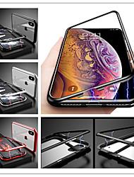 Недорогие -Кейс для Назначение Apple iPhone X Защита от удара / Магнитный Кейс на заднюю панель Однотонный Твердый Закаленное стекло для iPhone X / iPhone 8 Pluss / iPhone 8