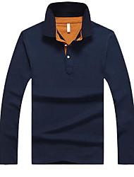 Недорогие -мужской выход поло - сплошной цветной воротник рубашки