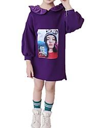 Χαμηλού Κόστους -Παιδιά / Νήπιο Κοριτσίστικα Ενεργό Καθημερινά Στάμπα Στάμπα Μακρυμάνικο Κανονικό Βαμβάκι Μπλούζα με Κουκούλα & Φούτερ Ανθισμένο Ροζ