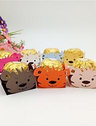 Недорогие -Кубик Мелованная бумага Фавор держатель с Вышивка бисером в виде цветов / Узоры / принт Подарочные коробки - 50шт
