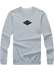 billige -mænds langærmet bomuld sweatshirt - brev / solid farvet rund hals