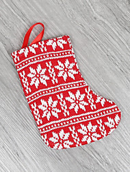 Недорогие -Праздничные украшения Рождественский декор Рождественские чулки Праздник Красный 1шт