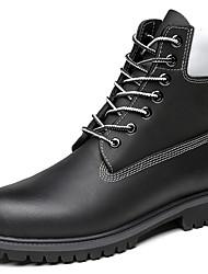 billiga -Herr Fashion Boots Nappaskinn Vinter Klassisk / Ledigt Stövlar Håller värmen Stövletter Svart