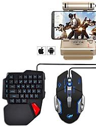 billiga -Kabel Mus tangentbord combo Häftig USB Powered gaming tangentbord Spelmus 1000 dpi 5 pcs
