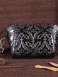 Недорогие -женская сумка наппа кожаная сумка из серебра / желтая / зеленая
