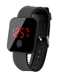 Недорогие -Муж. электронные часы Цифровой силиконовый Черный / Белый / Красный 30 m Защита от влаги ЖК экран Цифровой На каждый день Мода - Красный Зеленый Синий