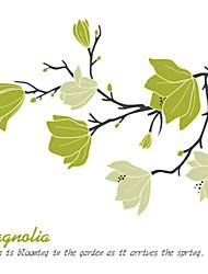 Недорогие -Декоративные наклейки на стены - Простые наклейки Геометрия / Цветочные мотивы / ботанический Спальня / В помещении
