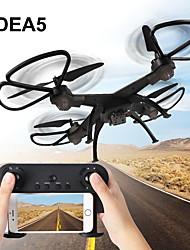 baratos -RC Drone IDEA5 RTF 6 Canais 6 Eixos 2.4G 640P Quadcópero com CR Modo Espelho Inteligente / Vôo Invertido 360° / Flutuar Controle Remoto / 1 Cabo USB / Hélices / Com 0.3MP HD Camera