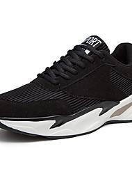 abordables -Homme Chaussures de confort Daim Automne Sportif Chaussures d'Athlétisme Marche Augmenter la hauteur Blanc / Noir / Beige