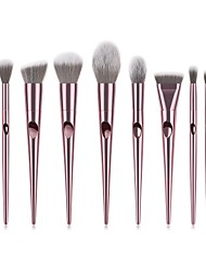 baratos -10pçs Pincéis de maquiagem Profissional Pincel para Blush / Pincel para Sombra / Pincel para Lábios Fibra de Nailom Cobertura Total