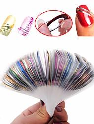 baratos -30 pcs Fita de folha de prego Multifunção / Melhor qualidade Criativo arte de unha Manicure e pedicure Diário / Festival Estiloso