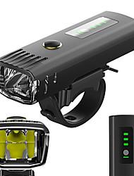 abordables -Lampe Avant de Vélo LED Eclairage de Velo Cyclisme Imperméable, Antireflet, Capteur de Lumière Batterie Lithium-ion Rechargeable 650 lm Blanc Camping / Randonnée / Spéléologie / Cyclisme
