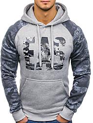 billige -Herre Basale Hattetrøje - camouflage / Bogstaver, Trykt mønster